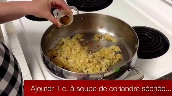 Recette Tupperware facile de Poulet curry à l'indienne