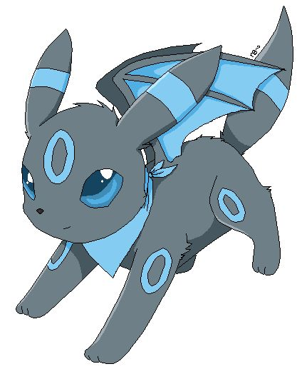 Nova blue the shiny umbreon pixel art pok mon fanart - Pokemon noctali ...