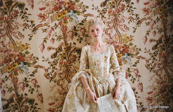 Rococo style interiors inspired by Sophia Copola's movie Marie Antoinette