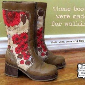 Fall overhaul: Mod Podge boots