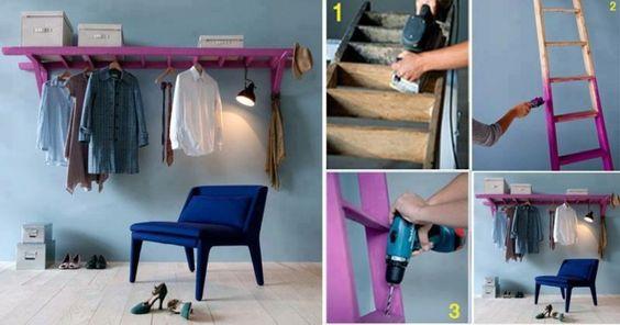 Cool Kleiderschrank alt Leiter neu Streichen Ideen cool Ideen rund ums Haus Pinterest Woods and House