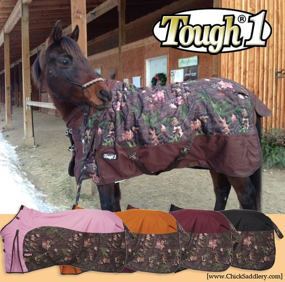 In ♥ With These New Camo Horse Blankets!