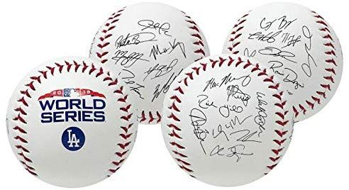 Rawlings Los Angeles Dodgers 2018 World Series Mlb Autograph Roster Baseball At Amazon S Sports Collectibles Store Los Angeles Dodgers Boston Red Sox Red Sox