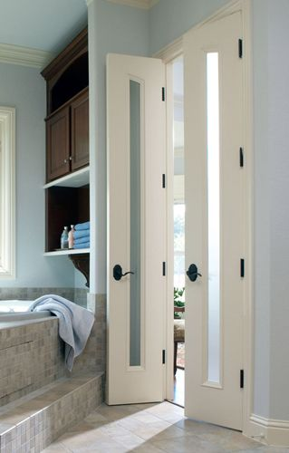 Narrow double doors bathroom ideas pinterest double for Narrow double french doors
