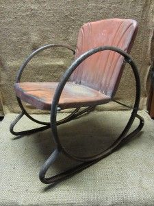 Vintage Children Vintage Metal And Rocking Chairs On