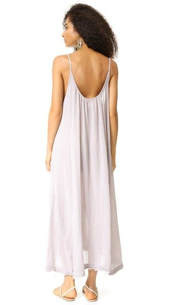 9seed Tulum Raw Edge Maxi Dress