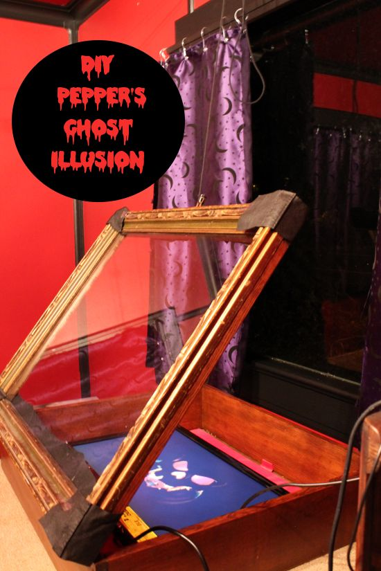 Ghosts illusions and moaning myrtle on pinterest for Animated floating ghost decoration