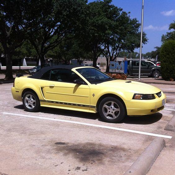 Late model Mustang convertible.