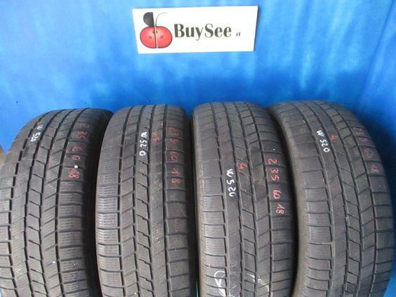 gomme usate pneumatico invernale 235/60 R18 Pirelli ice snow ruota termica W520