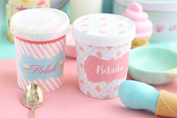 Helado casero Pretty pastel - Tape Pink