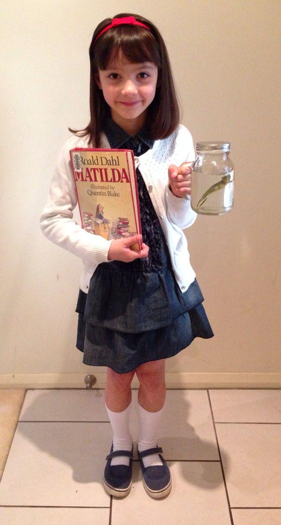 Matilda costume Book Week ideas. Newt in a jar too.