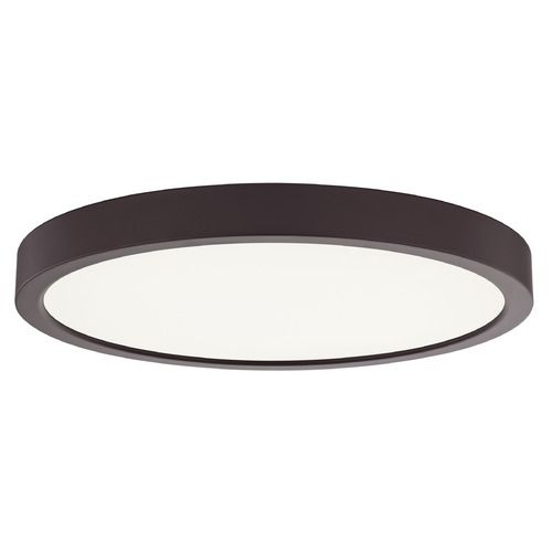 Flat Led Light Surface Mount 10 Inch Round Bronze 3000k 1511lm At