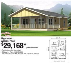 Highlander Home from Menards 2916800 House Plans Pinterest