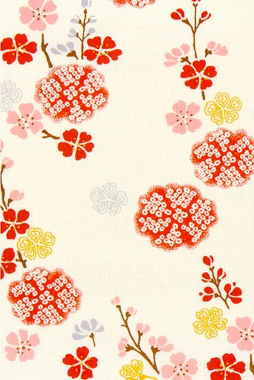 Botanical Flowers Flower Fabric And Cotton Fabric On