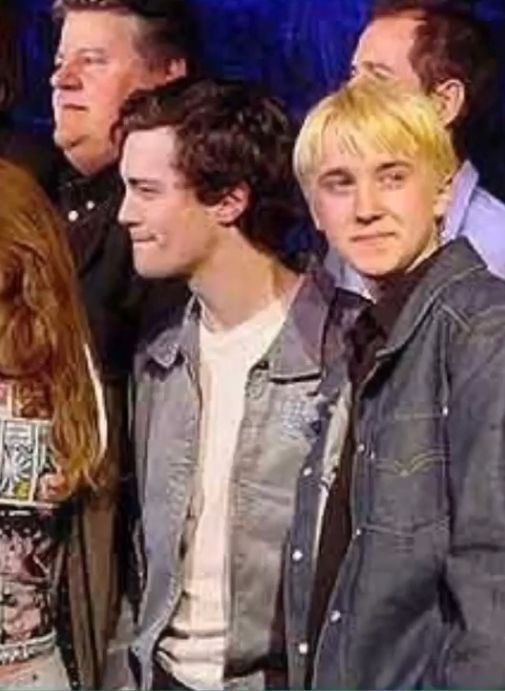 Christian Coulson And Tom Felton Harry Potter Cast Young Tom Riddle Harry Potter Draco Malfoy