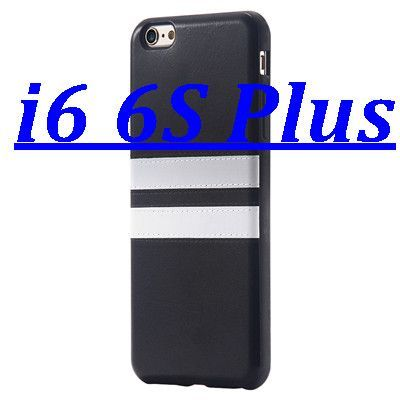 i6 /6s /Plus Soft PU Leather Stylish White Line TPU Cover for Apple iPhone 6 /6s for iPhone 6 Plus /6s Plus Back Protective Bags