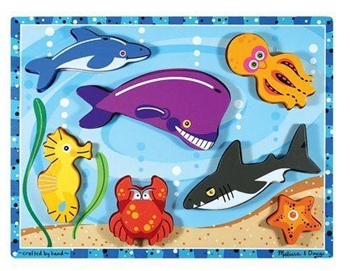 Melissa & Doug Sea Life Wooden Chunky Puzzle [Toy]
