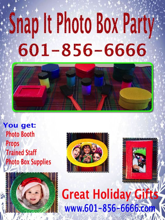 Fun Holiday Party Snap It Photo Booth One hour 15 boxes  $250.00  https://www.facebook.com/snapitms/posts/455777584526987