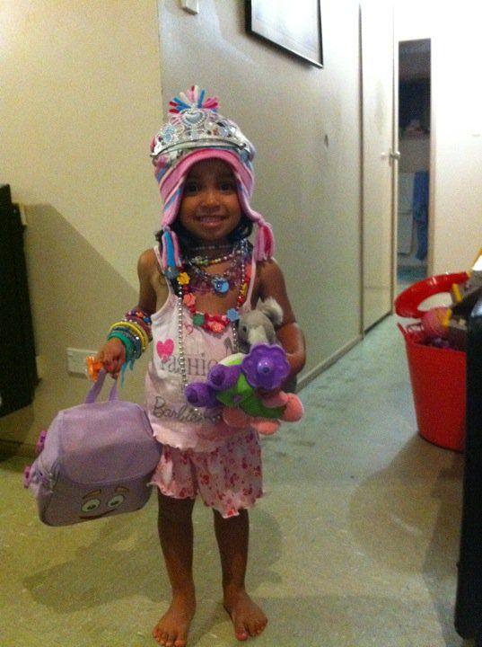 My daughter accessorised herself!