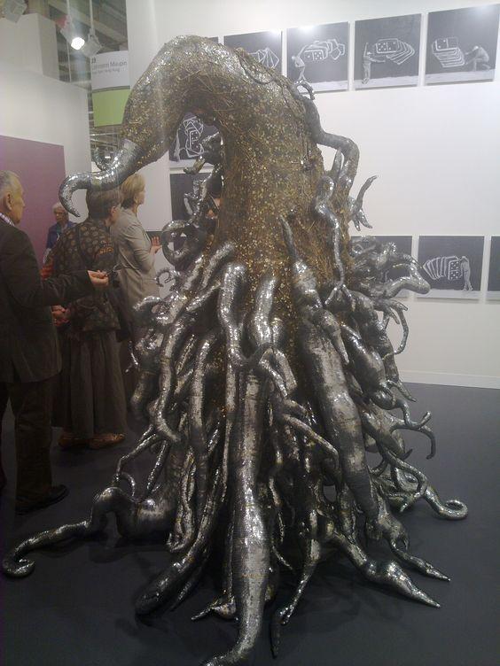 Lee Bul: Monster Black  (I came a fan of her organic sculptures)