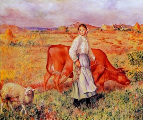 Shepherdess - Pierre-Auguste Renoir