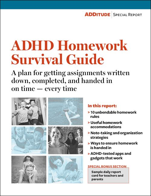 Homework help for adhd