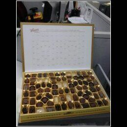 Have you ever seen something so wonderful..lol..2lb8oz box of whitmans chocolates for breakfast