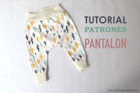 DIY patrones ropa de niños bebés legins pantalones