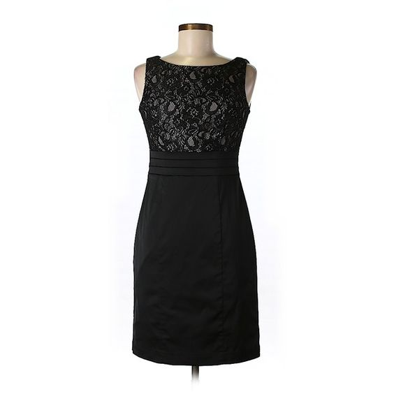 Pre-owned H&M Cocktail Dress (155 MAD) ❤ liked on Polyvore featuring dresses, black, black dress, kohl dresses, preowned dresses, pre owned dresses and h&m cocktail dresses