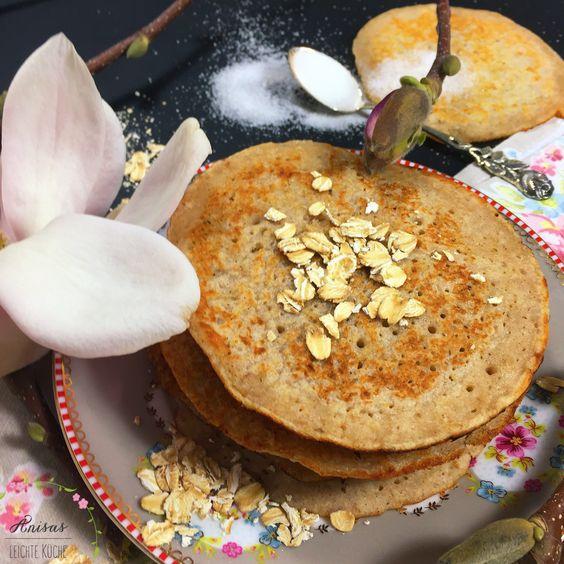 Buttermilch-Pancakes mit Haferflocken – anisasleichtekueche