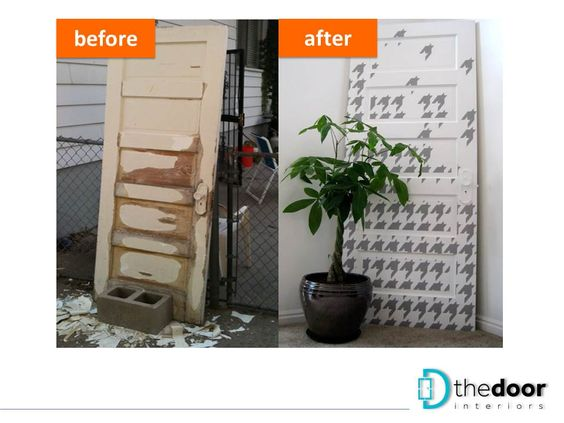 Recycling of an old door into a decorative furniture: http://goo.gl/i9ts9B