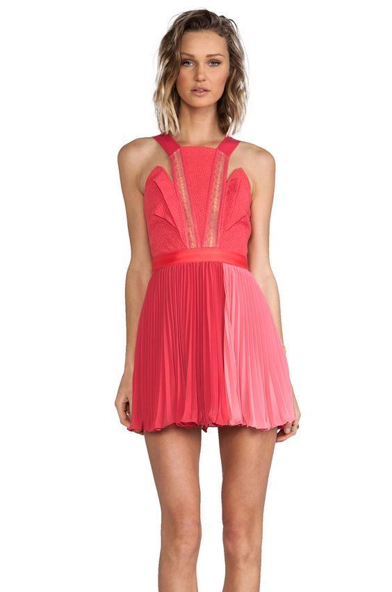 Three Floor Pretty Woman Dress in Paradise Pink/Nude - For The ...