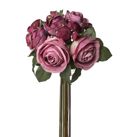 Covington Abbey Rose Ranunculus Bouquet (Set of 12)