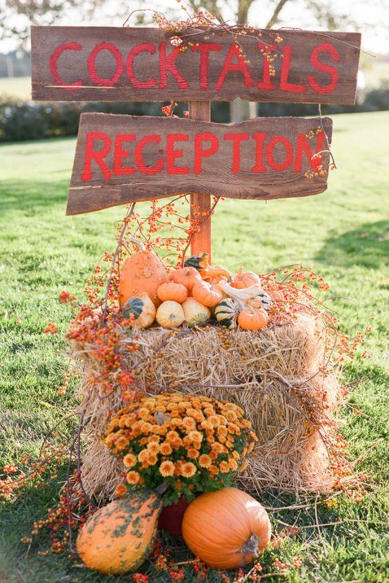 Autumn wedding reception decoration ideas | i take you
