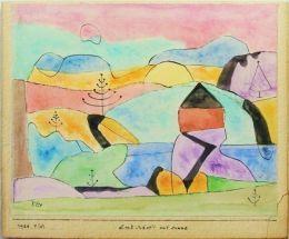 """Paul Klee """"Landschaft mit Sonne"""""""