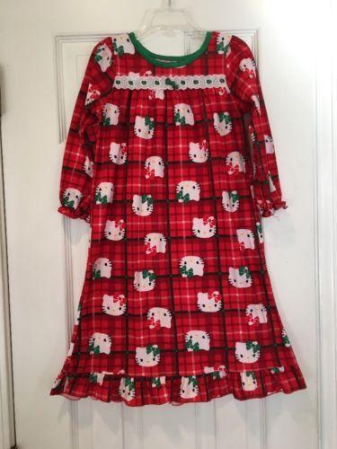 Girls Hello Kitty Holiday Christmas Plaid Nightgown Pajamas Sz 4T https://t.co/MuhPWgjLAC https://t.co/fSixtEDuV0