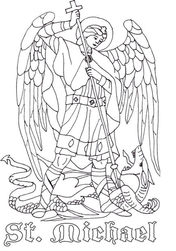 Catholic Coloring Pages For Kindergarten : St michael the archangel catholic coloring page