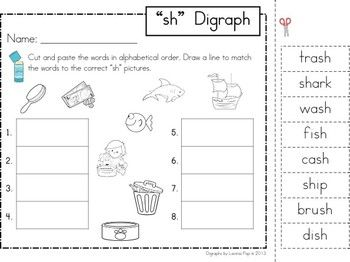 SH Digraph word work unit | The Unit, Cut And Paste and The O'jays