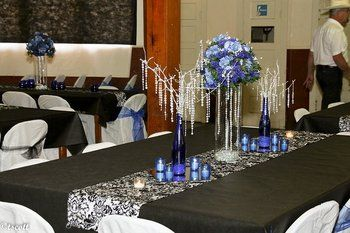 Tall Wedding Centerpieces Royal Blue