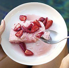 Strawberries and Cream Semifreddo #strawberry #dessert #recipe