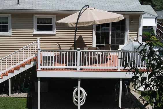 Pinterest the world s catalog of ideas for Raised ranch deck ideas
