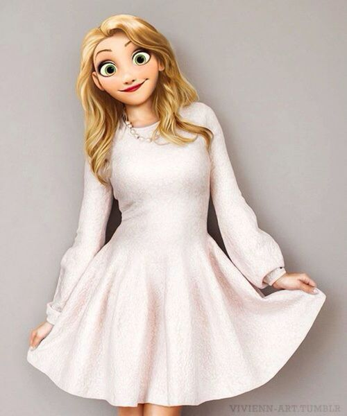 Raiponce robe blanche!!
