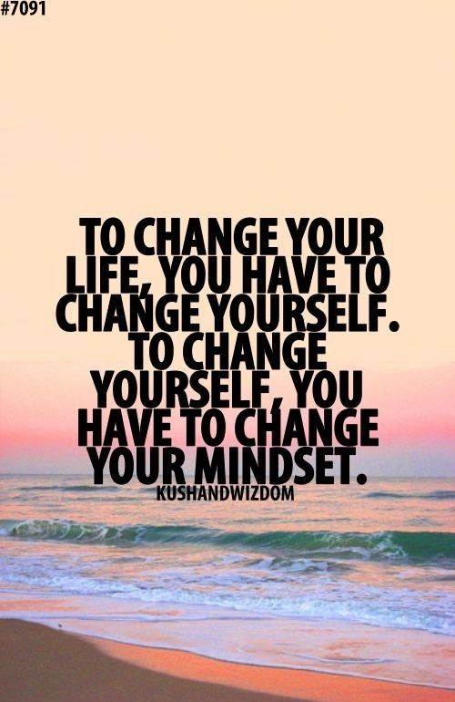 Change is necessary ... and it begins with how you think.: