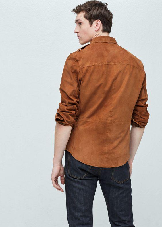 Suede overshirt   Jackets Clothing and Mango
