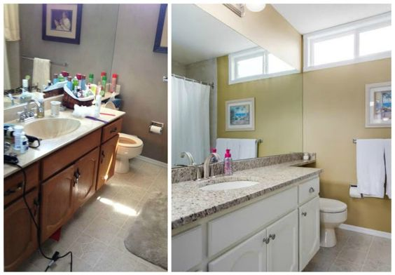 inexpensive bathroom renovation - Brooklyn Berry Designs