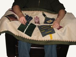 Sensory blanket for dementia or Alzheimer patients.
