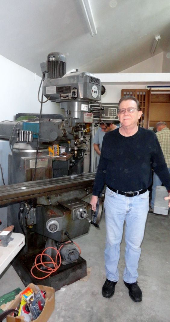 A Happy shopper with his huge Milling machine @ Crown City Estate Sales