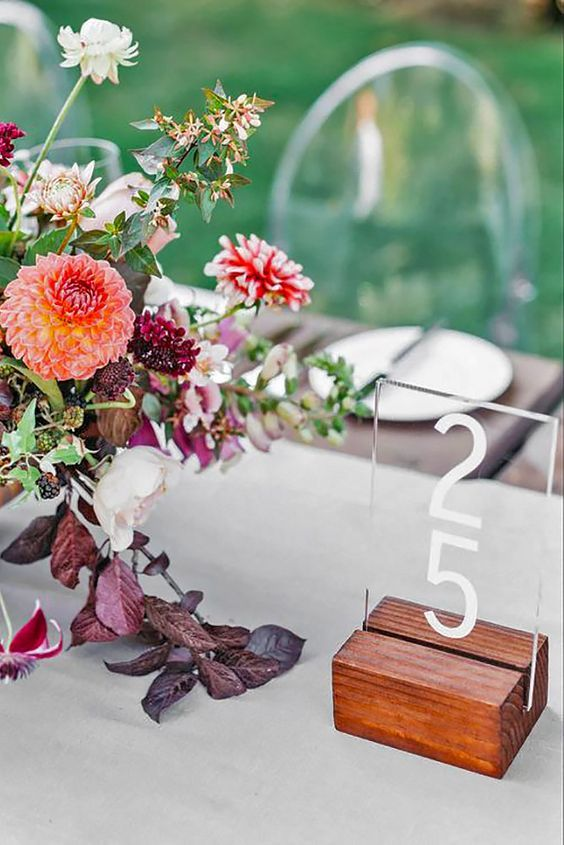 Lucite Table Decor