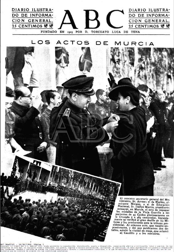 Ministros en Murcia ABC-14.04.1944-pagina 001