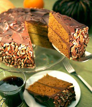 : Pumpkin cake with sour cream ganache | Pumpkin Cakes, Sour Cream ...